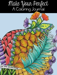 adult coloring book and coloring journal