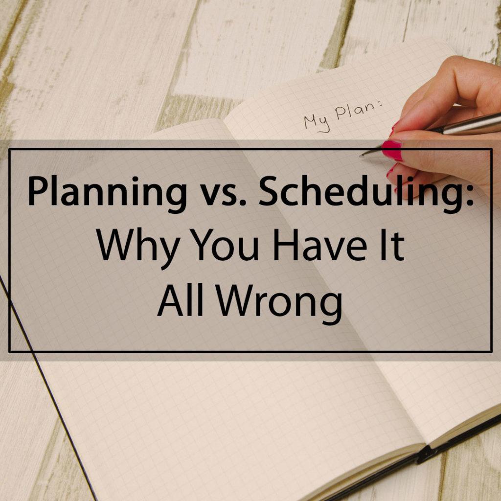 Planning-vs-scheduling