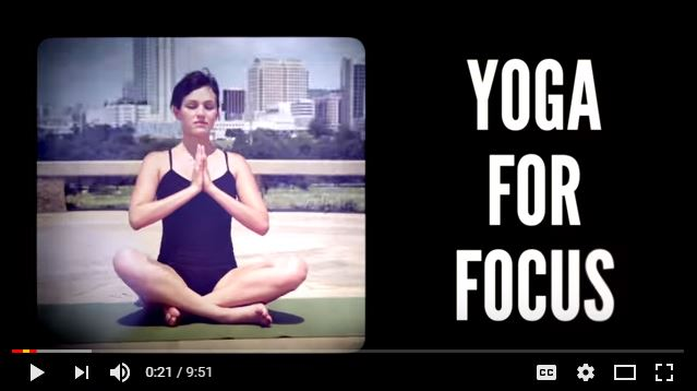 Yoga for focus 10 minute workout