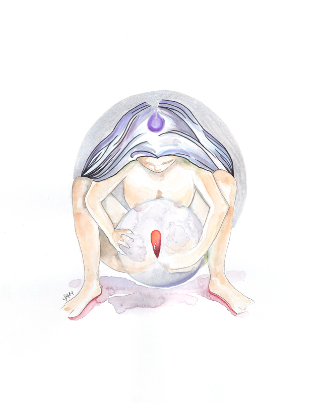 Birthing the Moon fine art print