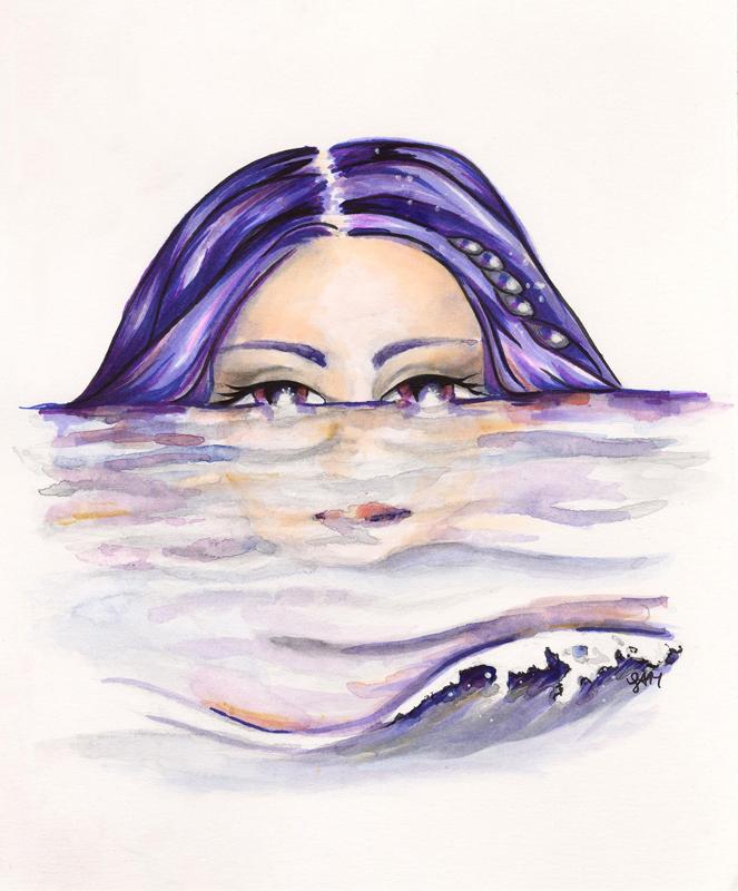 Mermaid rising fine art print